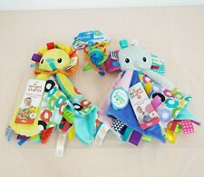 Lot of Baby toys - Bright starts, 2x Cuddles 'n Tags blankie + Oball - New