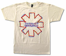 Red Hot Chili Peppers Trace Asterisk Cream Tan T Shirt New Official Soft Rhcp
