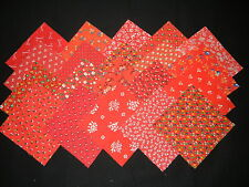 "30~4""x4"" vintage red fabric squares~quilt blocks~kits/quilting"