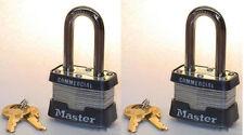 Lock Set by Master 3KALF (Lot 2) KEYED ALIKE Long Shackle Commercial Padlocks