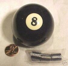 """SHIFTER KNOB Genuine 8-BALL w/ Metal Thread Adapters. New & Authentic. 2-1/4"""""""