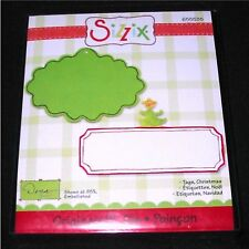 Christmas Tags Sizzix Originals Tag Label Die 655535 NEW!.