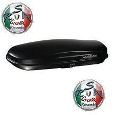 BOX AUTO FARAD ZEUS N16 480LT NERO GOFFRATO - BAULE PORTABAGAGLI TETTO