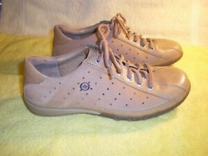 Born Casual Lace Up Shoes Sneakers Womens 6.5 / 37 M Tan Leather w Suede FR/SHP