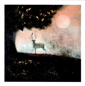 PAGAN WICCAN GREETING CARDS Warming Shadows CELTIC STAG Goddess CATHERINE HYDE