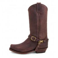 Sendra 3091 Sprinter Chocolate Men's Cowboy Western Leather Ankle Biker Shoes