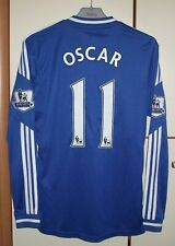 Chelsea 2013 - 2014 Home football shirt jersey Adida long sleeve #11 Oscar