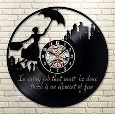 Mary Poppins_Exclusive wall clock made of vinyl record_GIFT_DECOR