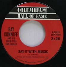 Pop 45 Ray Conniff - Say It With Music / 'S Wonderful On Columbia Hall Of Fame