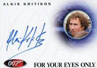 James Bond in Motion 2008 Alkis Kritikos as Santos Autograph Card A88
