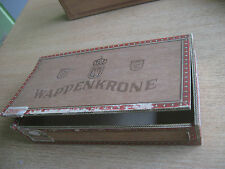 Zigarrenkiste leer, Wappenkrone  Grossformat farbmattiert Sammler Geschenk