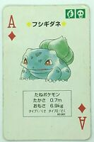 Bulbasaur Pokemon Venusaur Playing Card Poker Card 1996 Nintendo Japanese Rare