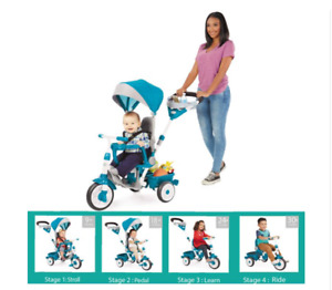 Little Tikes Perfect Fit 4-in-1 Trike, Teal - Convertible Toddler Tricycle NEW