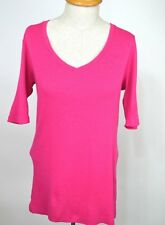Ralph Lauren Womens Juniors Size Large Top Tshirt Pullover Blue Label Pink