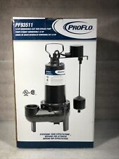 Proflo Pf93511 12 Hp Cast Iron Sewage Pump 2 With Vertical Float Switch