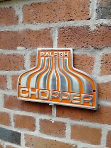 Raleigh Chopper Sign Orange cast aluminium bike cycle Nottingham mk1 mk2 VAC262