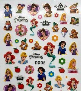 Nail Art Stickers Transfers Self Adhesive Disney Princess Nail Art Stickers