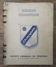 ANCIEN CATALOGUE CUISINIERES BOIS CHARBON CHAPPEE 1954