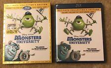 Disney*Pixar MONSTERS UNIVERSITY Blu-Ray+Blu-Ray 3D+DVD+Digital HD Sleeve NEW