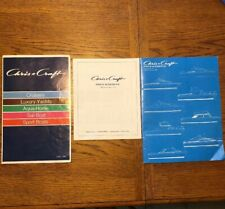 CHRIS CRAFT BOAT AD PRICE SCHEDULE 1973 & 1972 YACHTS CRUISERS BROCHURES QTY 2