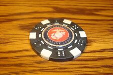 United States Marine Corps Dice design Poker Chip,Golf Ball Marker,Card Guard  B