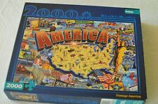 Buffalo Games 2000 Jigsaw Puzzle~Vintage America~Americana~license plate~98x67cm