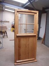 Solid Oak Stable Door,half Glazed, No Vat!!! Exterior Hardwood Joinery Door Only