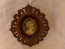 Antique Miniature Portrait of Maria Cosway by John Smart Framed