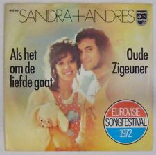 Sandra + Andres 45 Tours Eurovision 1972 Hollande