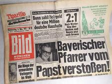 Bildzeitung vom 06.12.1973 * 44. 45. 46. Geburtstag Geschenk * Papst * Bonn