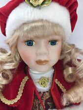 "Agatha BY KINNEX Dressed For Christmas 17"" Porcelain Doll"
