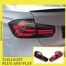 For BMW M3 F30 F35 LED Taillights Assembly 2013-2017 Dark/Red LED Rear Lamps