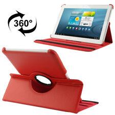Samsung Galaxy Tab 2 10.1 Luxus Kunst-Leder Tasche Hülle Case Rot P5100