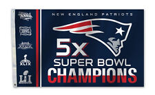 Fremont Die NFL NEW England Patriots Super Bowl 51 5x Champions 3 X 5-foot Flag