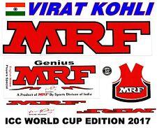Latest MRF World Cup 2017 English Willow cricket bat sticker.Virat Kohli Edition