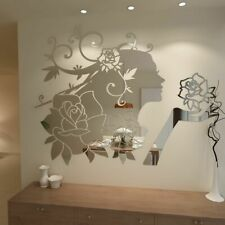 Flower Fairy 3D Acrylic Mirror Decorative Wall Stickers Living Room Decorations
