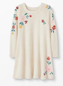NWT Hanna Andersson Storyteller Sweater Dress Merino Wool Cotton Sz 10 140 $70