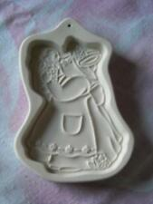 Longaberger Pottery Cookie Mold, Easter Bunny Mama and Baby, 1994
