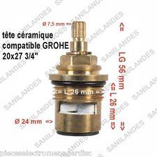"""Tête céramique 3/4"""" 20x27 pour mitigeur robinetterie compatible GROHE"""