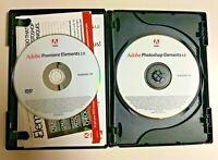 Photoshop Elements 4.0 & Premiere Elements 2.0 Windows XP w/ Key & Manual