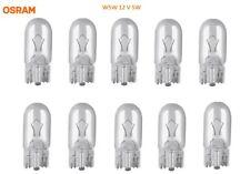 10 x lampada OSRAM Socket vetro Lampada 12v 5w w2.1 x 9.5d w5w luce di posizione