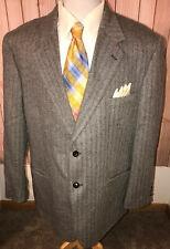 Savile Row Mens Size 46R Gray Herringbone Tweed Wool Sport Coat Jacket Blazer