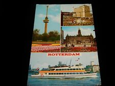Vintage Postcard, ROTTERDAM, NETHERLANDS, Multi-View Of City, To Waverly,VA,Flag