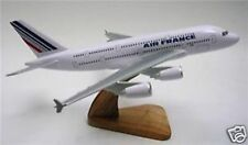 A-380 Air France Airlines Airbus 380 Airplane Mahogany Kiln Wood Model Large New