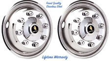 "17"" FORD F350 8 LUG SET OF (2) FRONT WHEEL SIMULATOR LINER HUBCAP COVERS ©"