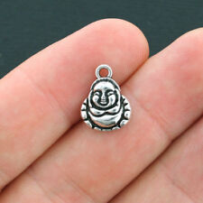 BULK 60 Buddha Charms Antique Silver Tone - SC3932