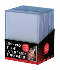 (25-Pack) Ultra Pro Super Thick 75pt Toploader Card Holders Thick Jersey Card