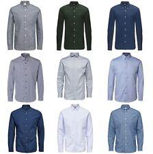 Selected Herren Langarm Hemd Klassisch Business Regular & Slim Fit |UVP*49,99€