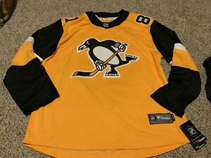 Pittsburgh Penguins Phil Kessel Fanatics Branded Yellow Jersey Size XL Men's