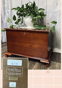 Vintage Bombay Company 16HKP Accent Side Table Trunk Chest Box WITH Lid #030